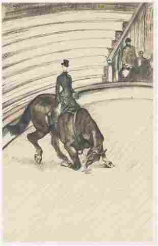 """French Lithograph on Paper Signed """"T-Lautrec"""""""