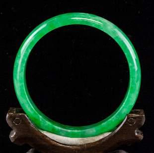 Chinese Burma Green Jadeite Bangle GIA Certificate