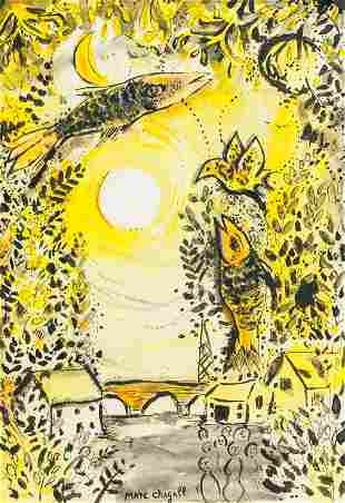 """French Mixed Media Signed """"MARC CHAGALL"""""""