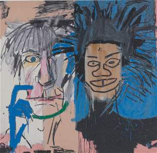 American Litho on Paper Signed Basquiat