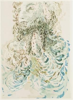 After Salvador Dali Spanish Woodblock Engraving