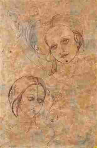Signed Da Vinci Ink on Papyrus Paper