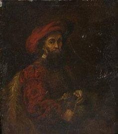 Oil on Metal Label Rembrandt Harmenszoon Van Rijin