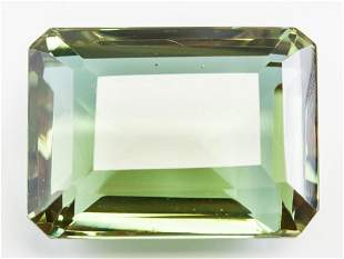 78.00ct Emerald Cut Brown to Green Alexandrite GGL