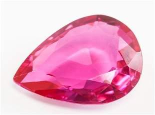36.45ct Pear Cut Pink Natural Ruby GGL