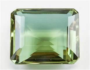 73.50ct Emerald Cut Brown to Green Alexandrite GGL