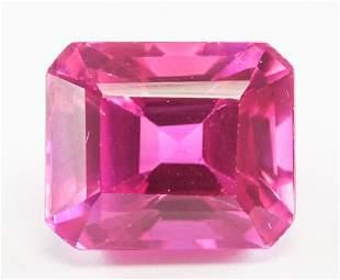 13.00ct Emerald Cut Pink Natural Danburite GGL