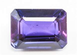 10.10ct Emerald Cut Blue Natural Alexandrite GGL