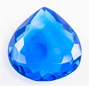 87.50ct Pear Cut Blue Tanzanite GGL