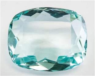 """66.30ct Cushion Cut Blue Natural """"Aquamrine"""" GGL"""
