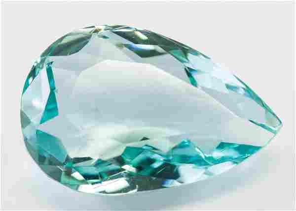 "81.05ct Pear Cut Blue Natural ""Aquamrine"" GGL"