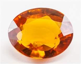 14.90ct Oval Cut Orange Natural Sapphire GGL
