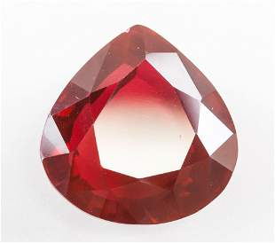43.35ct Pear Cut Red Natural Ruby GGL