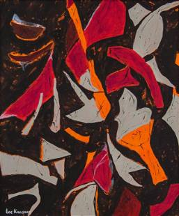 American Acrylic on Canvas Signed Lee Krasner