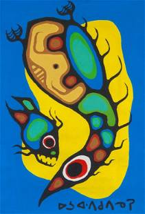 Norval Morrisseau 1932-2007 Canadian Acrylic