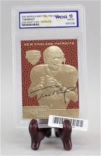 Merrick 2006 Tom Brady Player Card Signed