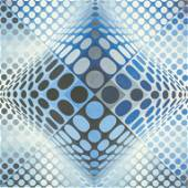 Russian Lithograph Signed Victor Vasarely 60/120