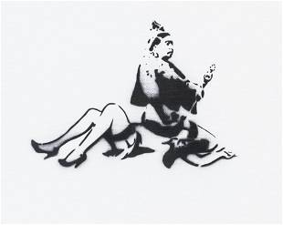 British Spray Paint on Canvas Board Dismaland