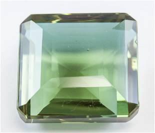 88.70ct Emerald Cut Brown to Green Alexandrite GGL