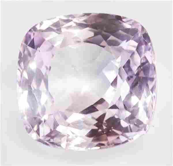 15.45ct Cushion Pinkish Purple Grey Alexandrite