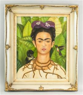 Mexican OOC Signed Frida Kahlo JULIEN LEVY GALLERY