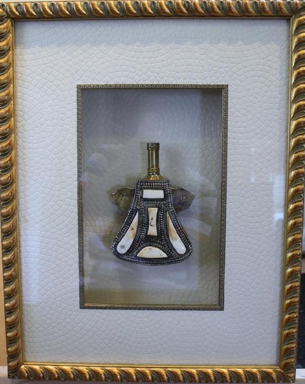 """5: Russian sculpture, framed shadowbox. 21"""" X 16"""""""