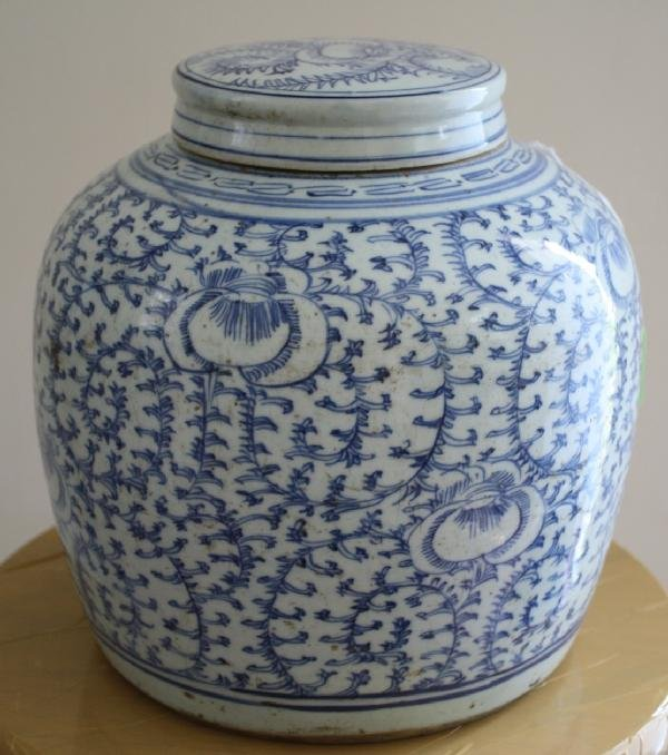 """9: 19th Century Qing Dynasty Chinese Blue & White (""""Min"""