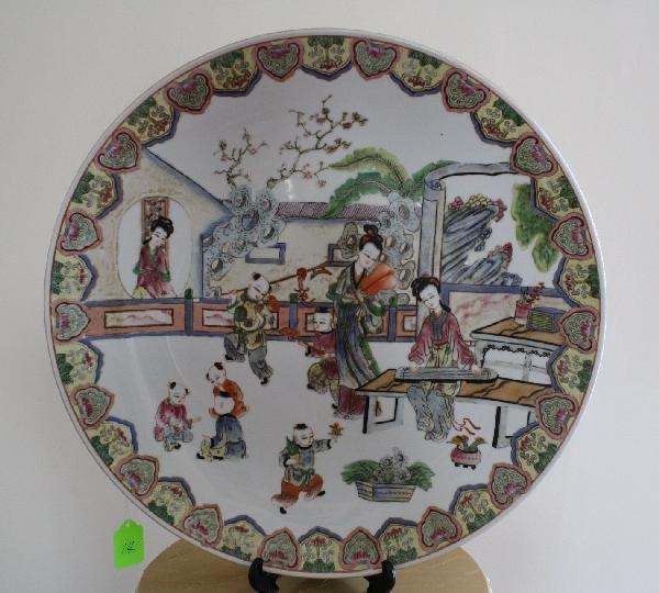 14: Large famille rose porcelain verte; Jiaqing mark of