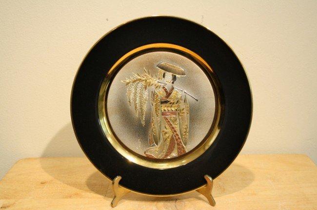 1: Japanese gold plated bowl, ARTIST : Yoshinobu Hara,