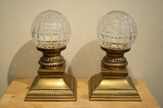 3: Indian pair of crystal ball candle holder stand (bra