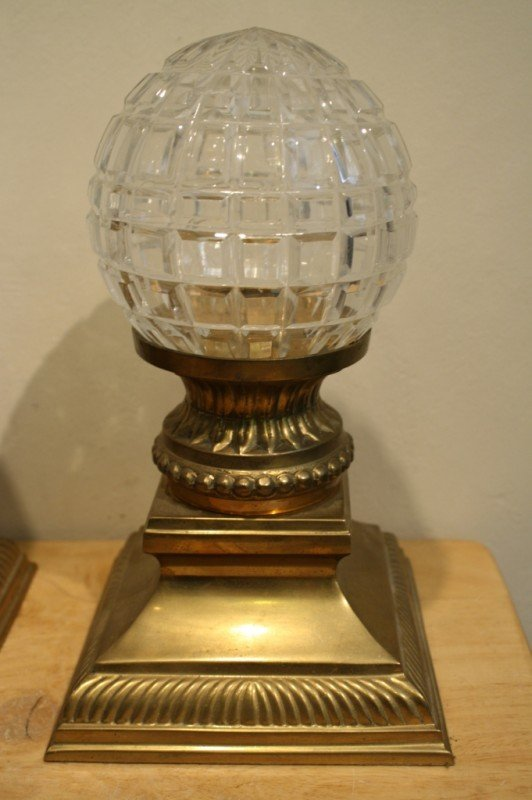 3: Indian pair of crystal ball candle holder stand (bra - 2