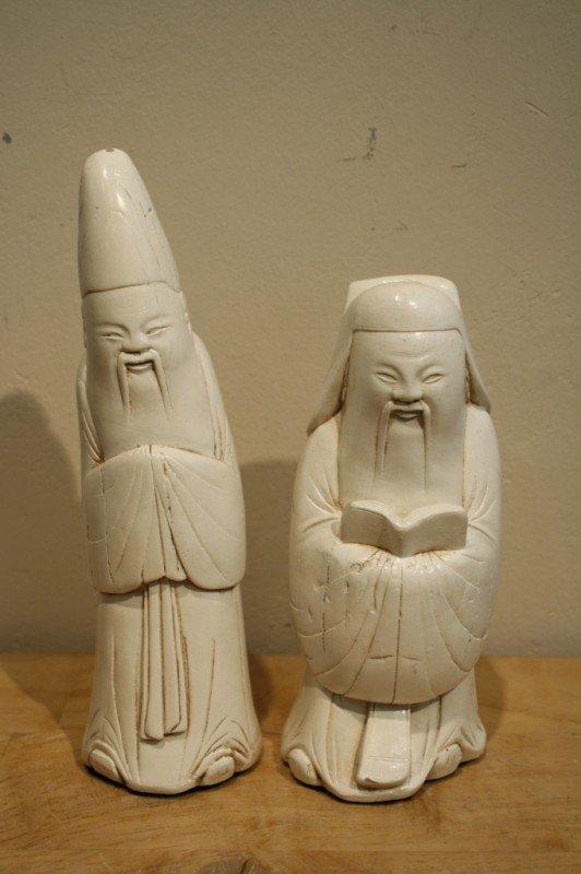 6: Chinese pair of porcelain sculpture ( scholar ) - 19