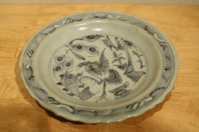 18:  Chinese Ming Dynasty (1368-1644) porcelain blue/wh
