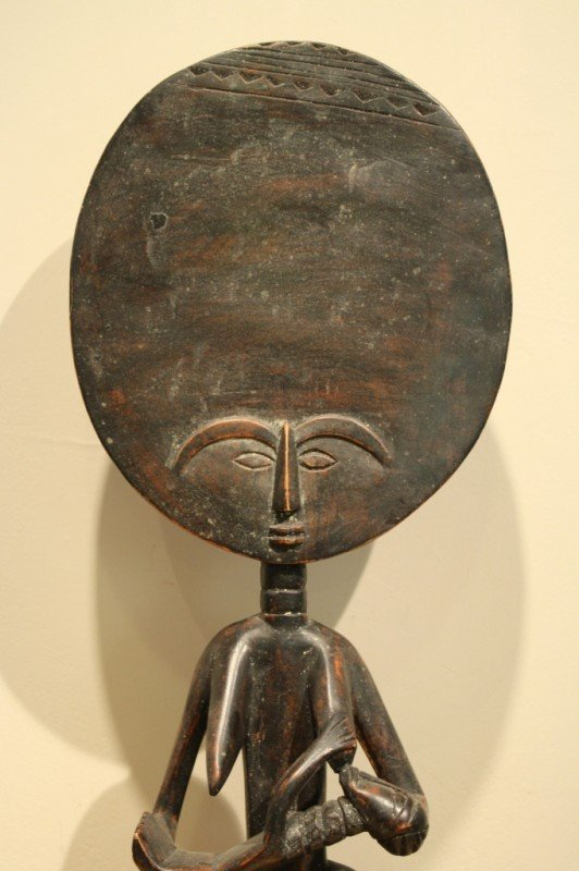 97: Wood African sculpture (symbol of mother nature and - 2