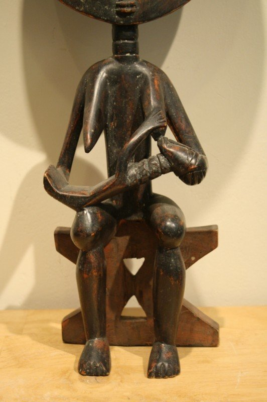 97: Wood African sculpture (symbol of mother nature and - 3