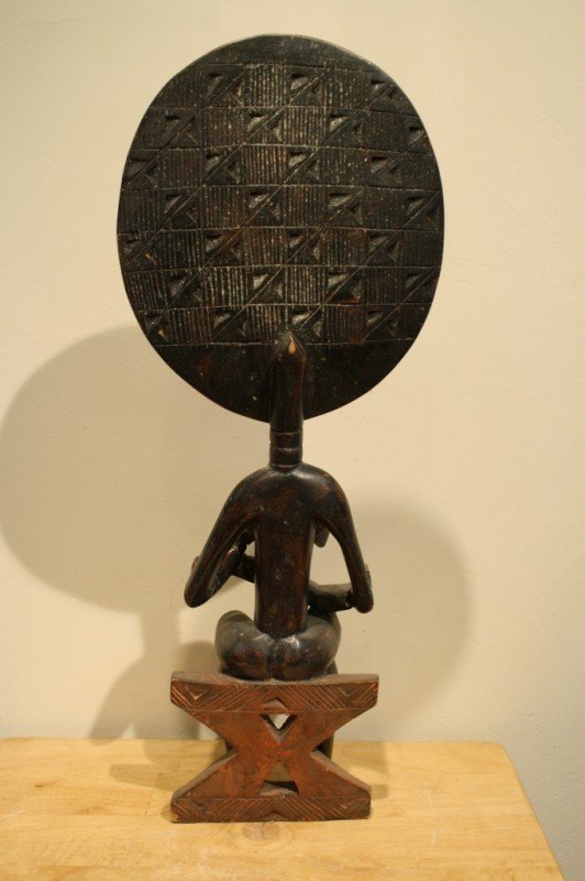 97: Wood African sculpture (symbol of mother nature and - 4