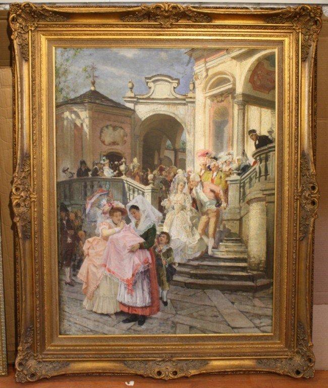 159: 19th century Giacomo Favretto (1849-1887 Italy) 40