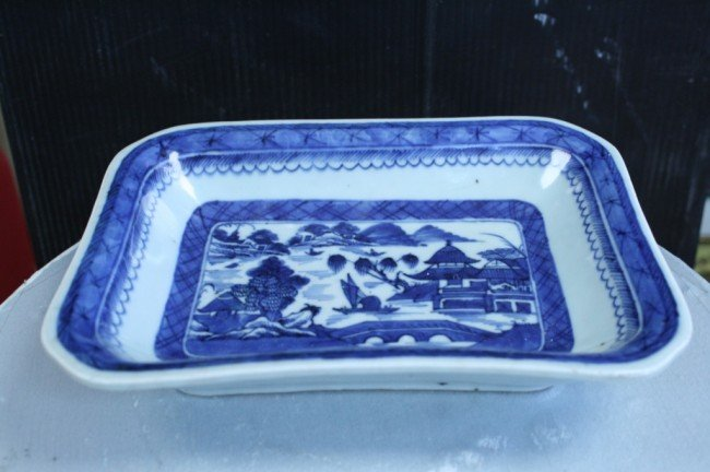 3: Chinese blue/white export square bowl, 7 X 9