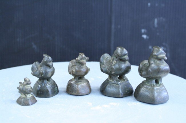 7: Chinese 5PCS of weight set, Qing Dynasty