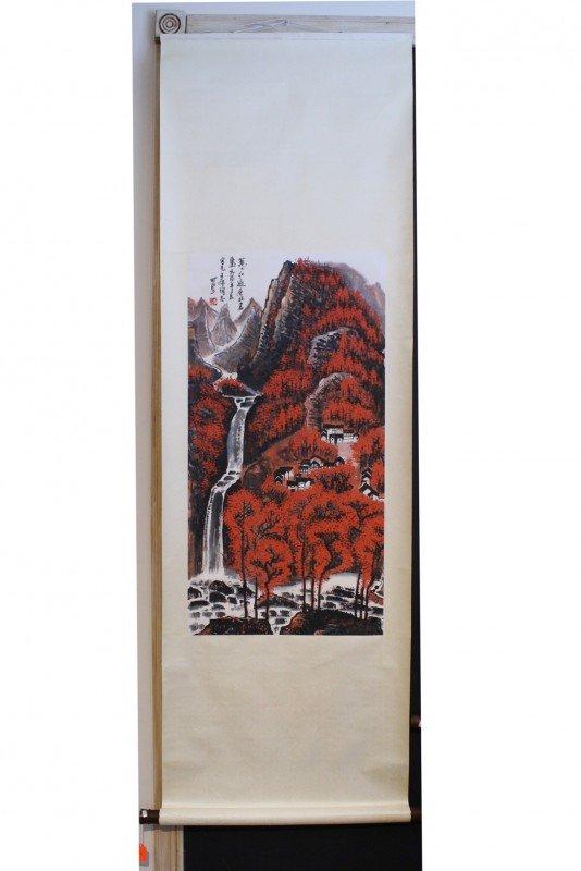 14: Chinese painting, Li Keran, 20 thc , 34 X 17 1/2