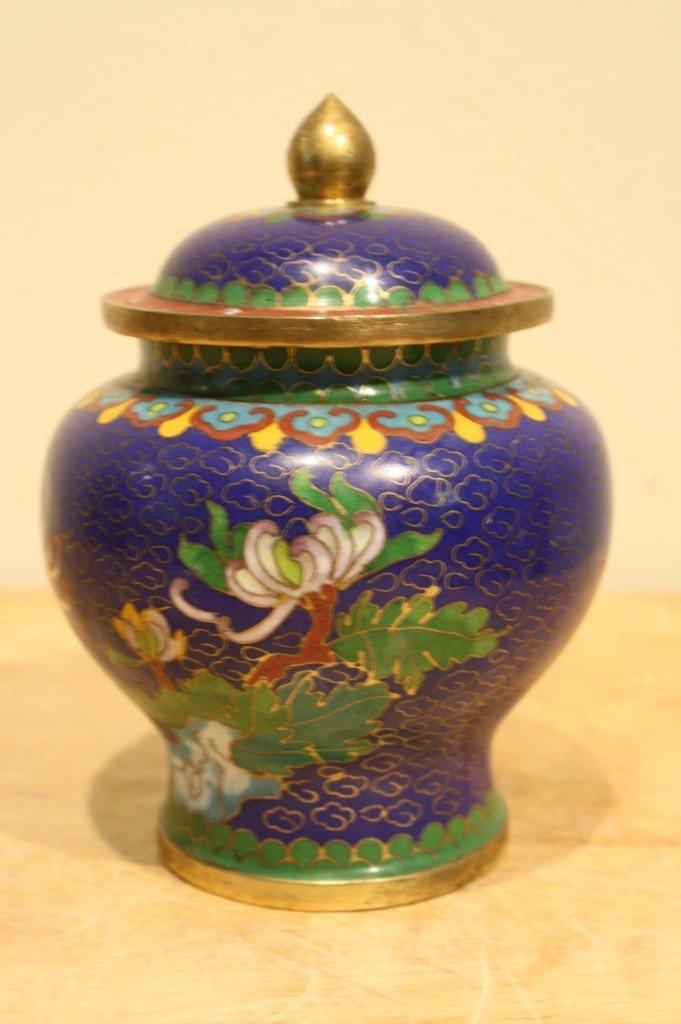 5: Japanese cloisonne jar with lid