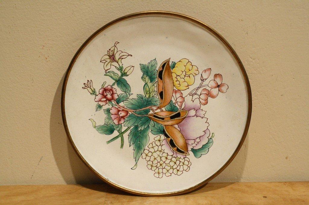 9: Chinese antique famille rose enamel plate VMFA mark,