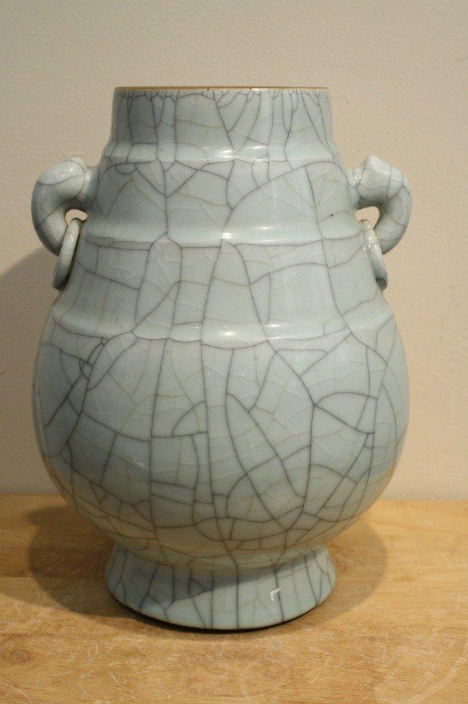 16: Chinese celadon-glazed ZUN type porcelain vase
