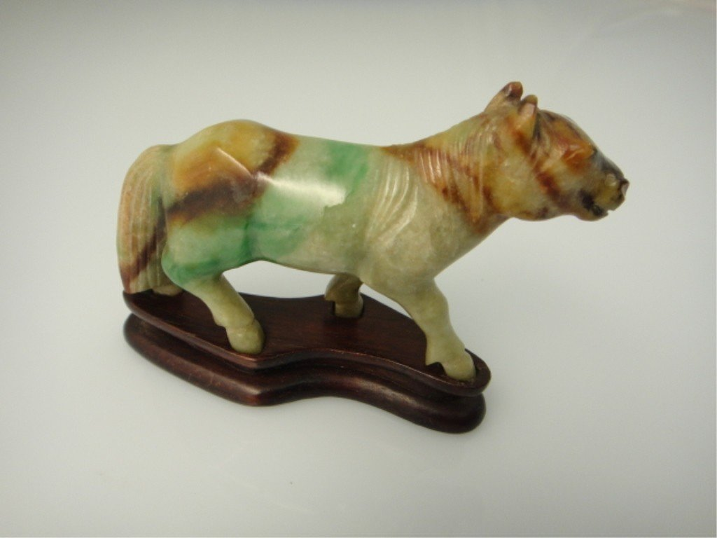 10: Antique Chinese Jade Carving of a Horse