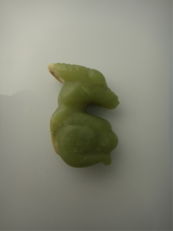 24: Antique Chinese Hongsan-Style Carved Green Jade