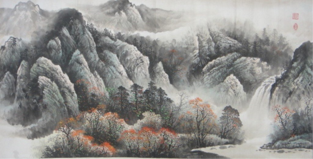 9: Chang Lu 20th Century Chinese Watercolor on Paper