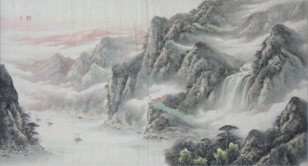 10: Chang Lu Chinese Watercolor on Paper