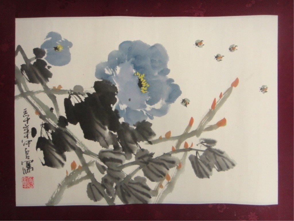 20: Jong Xia 20th Century Chinese Modern Watercolor