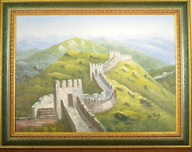 7: Chinese Oil on Canvas - Great Wall of China