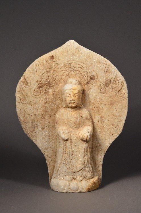 18: Chinese Marble Buddha Statue
